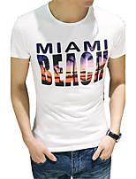 A man short sleeved T-shirt summer half sleeve shirt young slim type tee shirt Korean tide