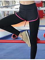 Yoga Pants Cykling Tights Åndbart / Hurtigtørrende / Svedreducerende / Glat Naturlig Strækkende Sport Wear Grå / Sort / Mørk Lyserød Dame