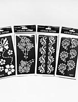 Inkjet PVC Henna Tattoo Sticker Printing Airbrush Tattoo Stencils