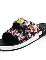 Zapatos de Hombre-Pantuflas-Casual-Sintético-Negro / Blanco / Multicolor