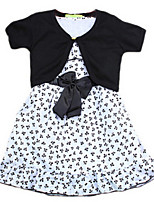 Girl's Dress,Cotton Summer / Spring Black