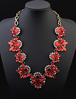 Mix Colors Leaves Statement Necklace Women Collar Necklaces Pendants Summer Style Jewelry