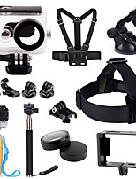 1 set Accessori GoPro Accessori Kit Per Xiaoyi Tutto in uno Arrampicata / Others / Universali / Bicicletta / Surf Plastica nero