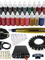 solong Tätowierung Dreh Tattoo-Maschine&Permanent Make-up Stift 50 Nadel Patronen Tintenset Stromversorgung Fußpedal ek102-3