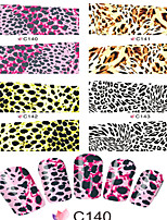 1pcs  Nail Art Water Transfer Stickers Sexy Leopard Image And Fashion Colorful Grid Image C140-147