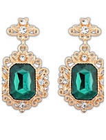 Vintage Charming Style Pretty Rhinestone Hollow Irregular Dangle Drop Earrings New Arrival Luxury Jewelry