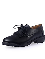 Women's Shoes Suede Spring / Summer / Fall / Winter Pointed Toe Oxfords Casual / Dress Flat Heel Lace-up Black / Yellow / Beige