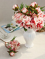 A Branch Silk Peonies Artificial Flowers Multicolor Optional 1pc/set