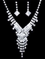 Women's Alloy / Rhinestone Jewelry Set Rhinestone