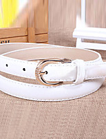Women Leather Solid Skinny Belt,Vintage / Cute / Party / Casual Alloy