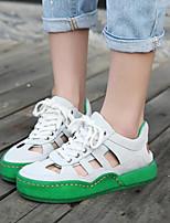 Scarpe Donna-Sneakers alla moda-Tempo libero / Casual-Comoda / Punta arrotondata-Plateau-Finta pelle-Giallo / Rosa / Bianco / Grigio