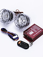 moto antifurto allarme w / due altoparlanti - traslucido (2 pezzi)