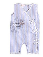 Girl's Blue Overall & Jumpsuit Cotton Summer