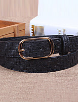 Women Leather Snakeskin Grain Wide Belt,Vintage / Cute / Party / Casual Alloy
