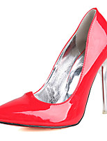 Women's Shoes PU Stiletto Heel Heels Heels Casual Black / Pink / Red