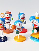 Doraemon PVC 8cm Anime Action Figures Model Toys Doll Toy 1 Set