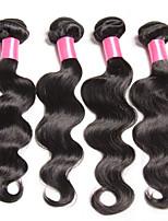 onda 7a corpo malese 3pcs malesi capelli umani vergini dell'onda del corpo dei capelli bundle rosa capelli prodotti capelli del tessuto
