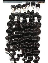 sin procesar onda profunda 7a extensión remy brasileña del pelo humano del color natural de haces de pelo de la armadura del pelo de la