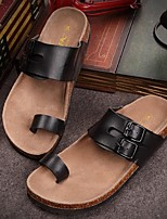 Zapatos de Hombre-Zuecos-Casual-PVC-Negro / Blanco