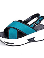 Women's Shoes PU Platform Open Toe Sandals Outdoor / Dress / Casual Black / Green / White