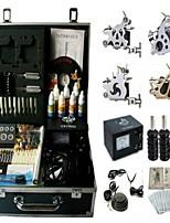 Basekey Tattoo Kit 4 Guns JHK0114 Machine With Power Supply Grips Cleaning Brush Ink Needles