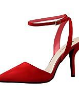 Chaussures Femme-Mariage / Habillé / Soirée & Evénement-Noir / Rose / Rouge / Gris / Fuchsia-Talon Aiguille-Talons / Bout Pointu-Talons-