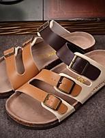 Sapatos Masculinos-Tamancos-Preto / Marrom / Vermelho / Branco-PVC-Casual