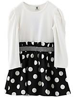 Girl's Dress,Cotton Spring / Fall White