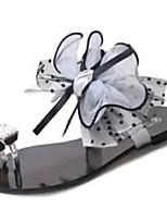 Scarpe Donna-Sandali / Ciabatte-Tempo libero / Formale / Casual-Pantofole-Piatto-PU (Poliuretano)-Nero / Grigio