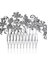 Vrouwen Parel / Bergkristal / Kristallen / Licht Metaal Helm-Bruiloft / Speciale gelegenheden / Informeel Haarkammen 1 Stuk Wit Rond