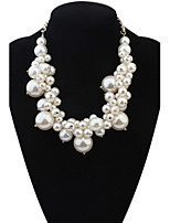 Simulated Pearl Necklace For Women Fashion Big and Small Round Pearl Choker Necklaces Statement Jewelry 2016