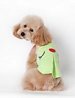 Cães Camiseta / Roupa / vestuário Verde / Rosa Verão Desenhos Animados Xadrez / Da Moda-Lovoyager