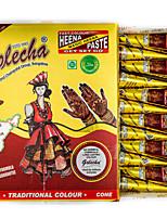 India golecha Hanna Coffee Tribal Temporary Paints Tattoo Cream 30g (Single Purchase)