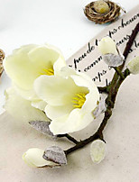 A Branch Silk Magnolia Artificial Flowers Multicolor Optional 2pc/set