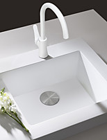 Deck Mounted Sink Mixer Tap Kitchen Faucet White