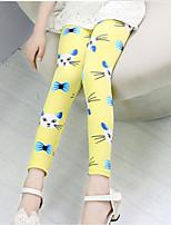 Girl's Blue / Pink / Yellow Pants Cotton All Seasons