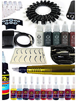 solong tattoo roterende tattoo machine& permanente make-up pen 20 naaldpatronen inktset voeding voetpedaal ek101-3