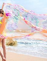 Women's (Random Color) Extra Large Cover-Ups,Color Block / Floral / Boho One-Pieces Chiffon 20 Colors