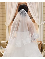 Wedding Veil One-tier Chapel Veils Cut Edge
