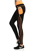 Yoga Pants Tights Breathable / Quick Dry / Wicking Natural High Elasticity Sports Wear Black Women's /Fitness / Running