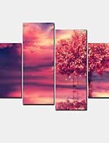 Modern Canvas Print Four Panels Ready to Hang,Horizontal
