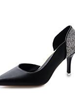 Zapatos de mujer-Tacón Stiletto-Tacones / Puntiagudos-Tacones-Vestido / Casual / Fiesta y Noche-PU-Negro / Rojo / Blanco