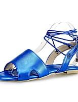 Calçados Femininos-Sapatilhas-Inovador-Rasteiro-Azul / Rosa / Vermelho / Bege-Materiais Customizados-Ar-Livre / Social / Casual