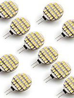 g4 0.9W 24 cms 3528 circulaire blanc chaud led lampe 3000-3300k (dc 12 v, 10pcs)