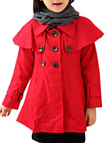 Girl's Red Jacket & Coat,Dresswear Cotton Winter / Fall