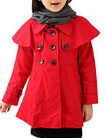 Girl's Red Jacket & Coat,Dresswear Cotton Winter / Fall