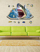 3D Wall Stickers Wall Decals Style Shark Swarm PVC Wall Stickers