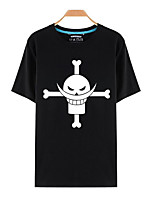 Ispirato da One Piece Monkey D. Luffy anime Costumi Cosplay Cosplay T-shirt Con stampe Top / T-shirt