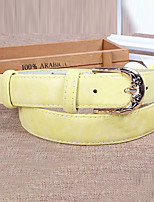 Women Leather Solid Simple Wide Belt,Vintage / Cute / Party / Casual Alloy