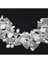 Women's / Flower Girl's Tulle / Imitation Pearl Headpiece-Wedding / Special Occasion Headbands 1 Piece